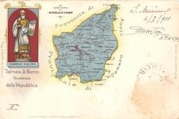 ¤¤  -  SAINT-MARIN  -  Dalmata S. Marino Fondatore Della Republique  -  Carte Géographique En 1901   -   ¤¤ - Saint-Marin