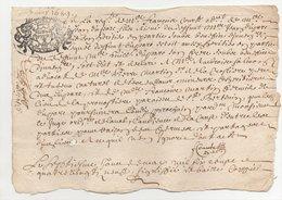 Généralité De Tours 1689 - Seals Of Generality