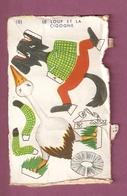 Découpage Le Loup Et La Cigogne - Banania? - Publicités