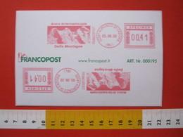 AM.02 AFFR. MECCANICA EMA METER STAMP SPECIMEN ITALIA 2002 AURONZO CADORE BELLUNO ANNO  DELLE MONTAGNE MONTAGNA MONTAIN - Geografia