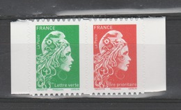 """FRANCE / 2018 / Y&T N° AA 1653/1654 ** : """"Marianne L'engagée"""" (les 2 TVP Du Carnet Adhésif N° 1653 Héliogravé) MdC - France"""