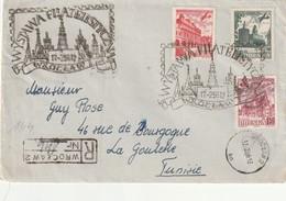 LETTRE Recommandée - Wrockaw 2  Le 17/02/1956 Pour La Tunisie - Flamme Expo Philatélique - 1944-.... République