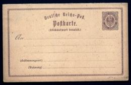 ENTIER POSTAL DOUBLE ALLEMAGNE- POSTKARTE AVEC CARTE RETOUR- ZWEI KREUSER BRUN AIGLE NEUF- 2 SCANS - Deutschland