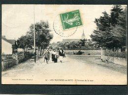 CPA - LES MOUTIERS EN RETZ - L'Avenue De La Mer, Animé - Les Moutiers-en-Retz