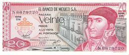 Mexico - Pick 64 - 20 Pesos 1977 - Unc - Messico