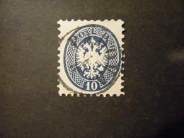 1864-65, 10 S. Azzurro Usato, Svendita Occasione Perfetto, Sass. N. 44 - Lombardo-Venetien