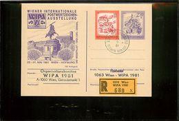 AUSTRIA - Cartolina Intero Postale - Postkarte - Ganzsachen - WIEN HOFBURG - WIPA 1981  - - Ganzsachen