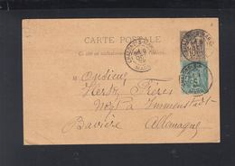 Carte Postale 1892 Chalons-s.-Marne Pour Baviere - Poststempel (Briefe)