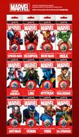 Russia 2019 MARVEL Set Of 12 X 25 Rubels Rubles Deadpool Captain America Hulk - Russia