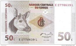 Congo - Pick 84 - 50 Centimes 1997 - Unc - Congo