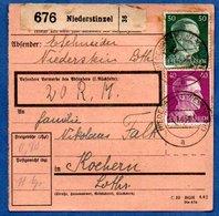 Colis Postal  -  Départ Niederstinzel  -  Pour Cocheren  - 12/1/1943 - Covers & Documents