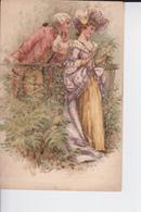 Beau Couple D'un Autre Siècle , Très élégant Et Se Promenant Dans La Nature - Moda