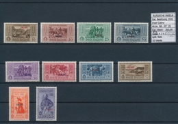 Ägäische Inseln: 1932, 10 C.-5 L. Guiseppel Garibaldi, 13 Complete Sets With Overprint Calino Till S - Ägäis