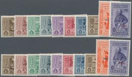 Ägäische Inseln: 1932, Garibaldi Four Complete Sets With Diff. Opts. Incl. LERO, NISIRO, SCARPANTO A - Ägäis
