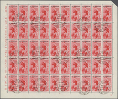 Ägäische Inseln: 1934, Aegean Islands. Lot With 6 Different, Complete Sheets Of 50 Stamps Each: 20c - Ägäis