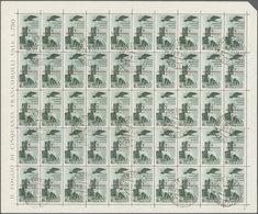 Ägäische Inseln: 1934, Football World Cup, Airmails 50c.-10l., Four Values In (folded) Sheets Of 50 - Ägäis