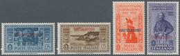 Ägäische Inseln - Kastellorizo: 1932, 10 C.-5 L. Guiseppe Garibaldi Overprint Issue Complete, Mint N - Castelrosso