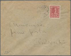 Albanien: 1912, An Envelope Addressed To PODGORICA, Bearing Montenegrian 10p Rose-carmine (SG 144) O - Albanien