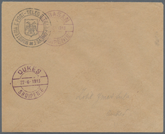 Albanien: 1913. Provisional Govt 1913/14. (1 Gosh) Envelope Handstamped With Two Concentric Circles - Albanien