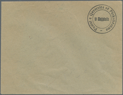 Albanien: 1913. Provisional Definitive. 1 Pia Black, HANDSTAMPED On Envelope, Without The Value Or C - Albanien