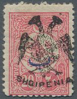 "Albanien: 1913, Double Headed Eagle Overprints, 20pa. Rose ""beyiye"", Fresh Colour, Mint Original Gum - Albanien"
