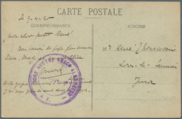 Albanien: 1920. Stamp-less Picture Post Card Of 'Veria, Rue Principle' Dated '9th Avril 20' Addresse - Albanien