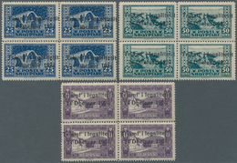 """Albanien: 1925 (5 Mar). Return Of Government To Capital In 1924. Pictorials Of 1920 Overprinted """"Tri - Albanien"""