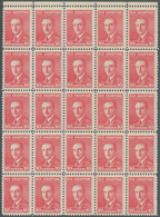 Albanien: 1925, Definitive Issue 'Achmed Zogu' 10q. Carmine With Scarce Perf. 11½ Block Of 25 From U - Albanien