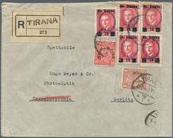 Albanien: 1927/1930, Two Registered Letters From ELBASAN Respectively TIRANA. One As A 25 Q Statione - Albanien