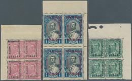 Albanien: 1928 (25 Aug). National Assembly. Unissued Stamps Depicting President Ahmed Zogu, Overprin - Albanien