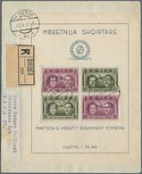 Albanien: 1938. Registeredcover To Austria, Franked With Miniature Sheet Of Royal Wedding, Postmark - Albanien