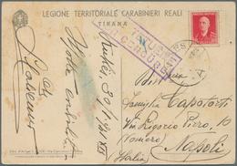 Albanien: 1940. Italian Occupation Propaganda Card 'Legione Territoriale Carabinieri Reali Di Tirana - Albanien