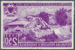 Albanien: 1947, Konferenz Von Peza 2.50 L. Als Ungezähntes FOTOESSAY In Lila (Farbe Des 2 L.-Wertes) - Albanien