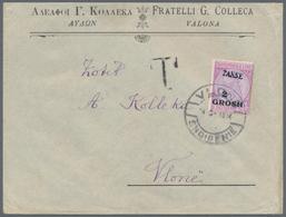 Albanien - Portomarken: 1914. Business Envelope, Unfranked, Addressed Locally, Handstamped T, 2 Gr O - Albanien
