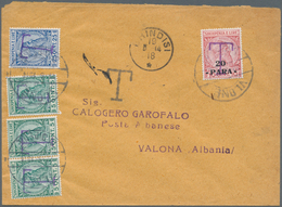 Albanien - Portomarken: 1914, An Unfranked Letter To An Official Of The Albanian Post Office., With - Albanien