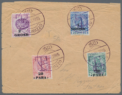 Albanien - Portomarken: 1915, Complete Set Of Postage Dues Handstamped With Pasha's Seal (SG D55/59) - Albanien