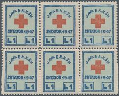 Albanien - Zwangszuschlagsmarken: 1947, Compulsory Surcharge Stamp For Albanian Red Cross 1 L. Blue/ - Albanien