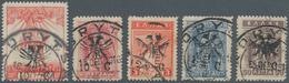 Albanien - Lokalausgaben: KORITSA: North Epirus 10 C. On 2 L. To 25 C. On 50 L., Each Stamped, V Wit - Albanien