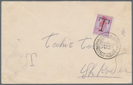 """Albanien - Lokalausgaben: 1915. Cover To SCUTARI Despatched Stampless By """"SHENGJIN 16.III.15"""", Hands - Albanien"""