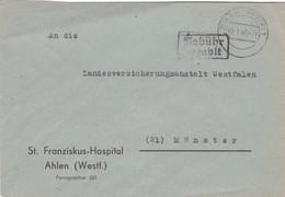 Brief Aus Ahlen Nach Münster 1946 - Zone Anglo-Américaine