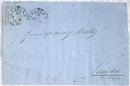 Schweiz Suisse 1866: HELVETIA 10c Blau Zu 31 Mi 23 Yv 36 Mit O Von ST.GALLEN 29 MÄRZ über GLARUS 30 MÄRZ 66 Nach Ennenda - 1862-1881 Helvetia Assise (dentelés)