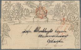 Großbritannien - Ganzsachen: 1840, Mulready Advertising Lettersheet 1d. Black (Cheltenham Anniversar - 1840 Mulready-Umschläge