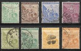 Cape Of Good Hope 1893-1898. ½d - 1s (wmk. Anchor). SACC 56-63, SG 61-68. - Südafrika (...-1961)