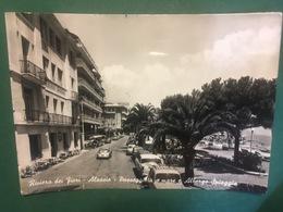 Cartolina Riviera Dei Fiori - Alassio - Passeggiata A Mare E Albergo Spiaggia - Savona