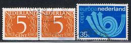 HOL 121 // YVERT 976, 976a, 982 // 1972 - Period 1949-1980 (Juliana)