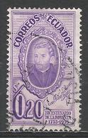 Ecuador 1956. Scott #607 (U) Brother Juan Adam Schwarz, S. J. * - Equateur