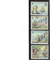 V12 - TUVALU 111 / 114 ** MNH De 1974 - JAMES COOK - RESOLUTION - TRANSIT De VENUS - MORT à HAWAII - - Tuvalu