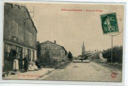 51 VILLE Sur TOURBE Entrée Village Animat Devant Commerce Gardien De Moutons Route Edit Martinet 1910    D01 2019 - Ville-sur-Tourbe