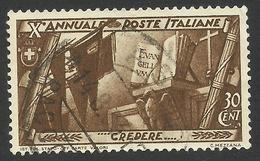 Italy, 30 C. 1932, Sc # 295, Mi # 420, Used - 1900-44 Vittorio Emanuele III
