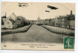 59 DOUAI  Quai Du Commerce  Aviation Avions Circuit De L'Est Organisé Par Journal Le Matin  1910 Timb        - D01 2019 - Douai